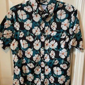 Men's floral button down